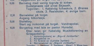 Program for 17. mai 1949 i Kabelvåg