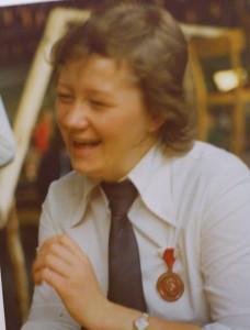 Hjørdis Søraas 1.Kvinnelige Formann 1976